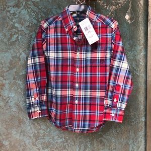 NWT! Polo Ralph Lauren Button Down Plaid Shirt
